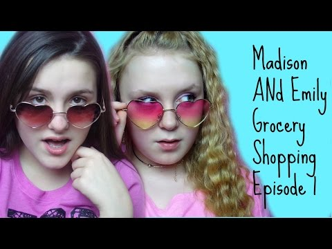 Emily & Madison Go Grocery shopping Very Funny