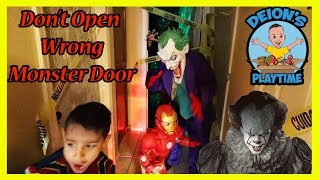 DON'T OPEN WRONG MONSTER DOOR | DEION'S PLAYTIME