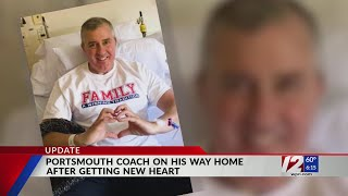 Portsmouth Coach Mike Brennan heads home from hospital after heart transplant