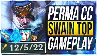 THIS REWORKED SWAIN PERMA CC BUILD IS SO DUMB! Best Build - Swain Top Gameplay | League of Legends
