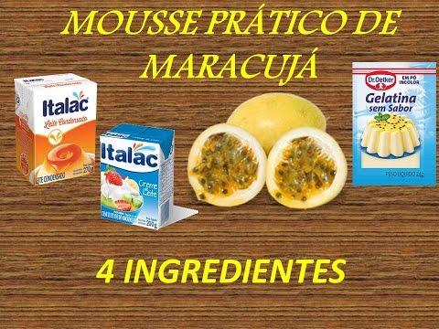 Mousse Prático de maracujá
