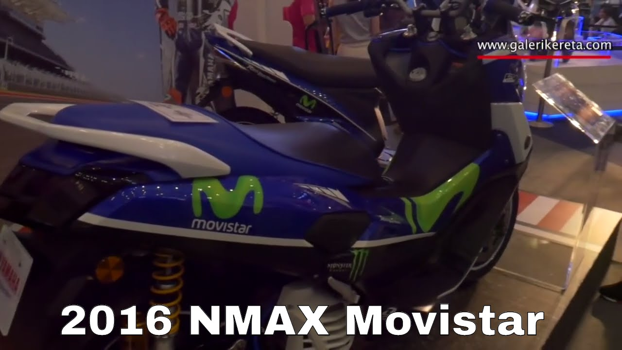 Remove Sticker From Windshield >> Yamaha NMAX 2016 Scooter Movistar Design - YouTube