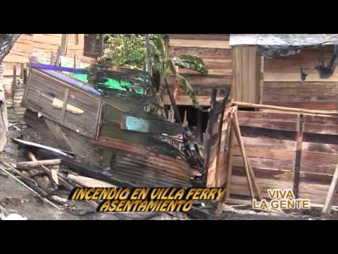 VIVA LA GENTE INCENDIO VILLA FERRY 8 NOVIEMBRE 2014