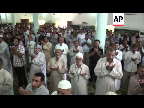 Shia muslims hold prayers to mark Eid-al-Fitr festival