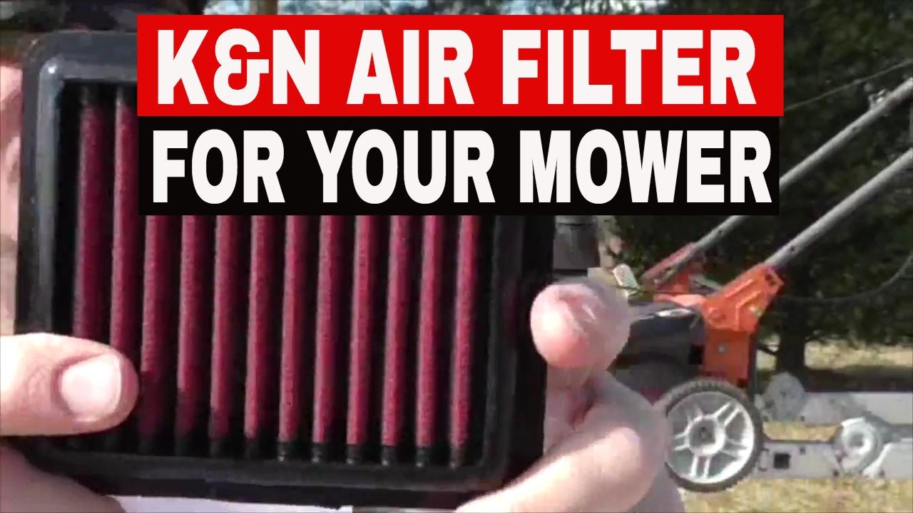 K N Air Filter Upgrade For Honda Push Mower