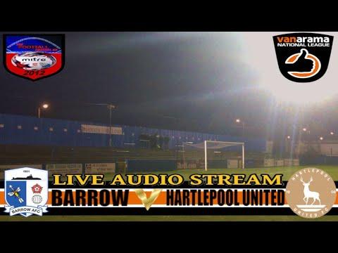 BARROW AFC 1 HARTLEPOOL UNITED 2 | VANARAMA NATIONAL LEAGUE | LIVE AUDIO STREAM 21/03/2018