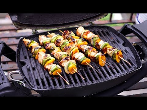 Chicken Kebabs On A Weber Q For Any Night Of The Week.