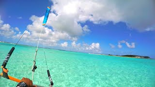 Kitefoiling in nearly impossible conditions with Flysurfer Sonic 2 in San Salvador, Bahamas!!