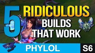 5 RIDICULOUS BUILDS that work in DIAMOND (League of Legends)
