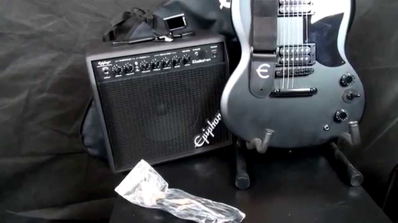 Epiphone Goth Sg Electric Guitar Performance Pack Review Youtube