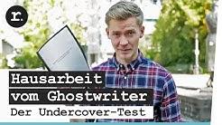 Hausarbeit vom Ghostwriter - der Undercover-Test