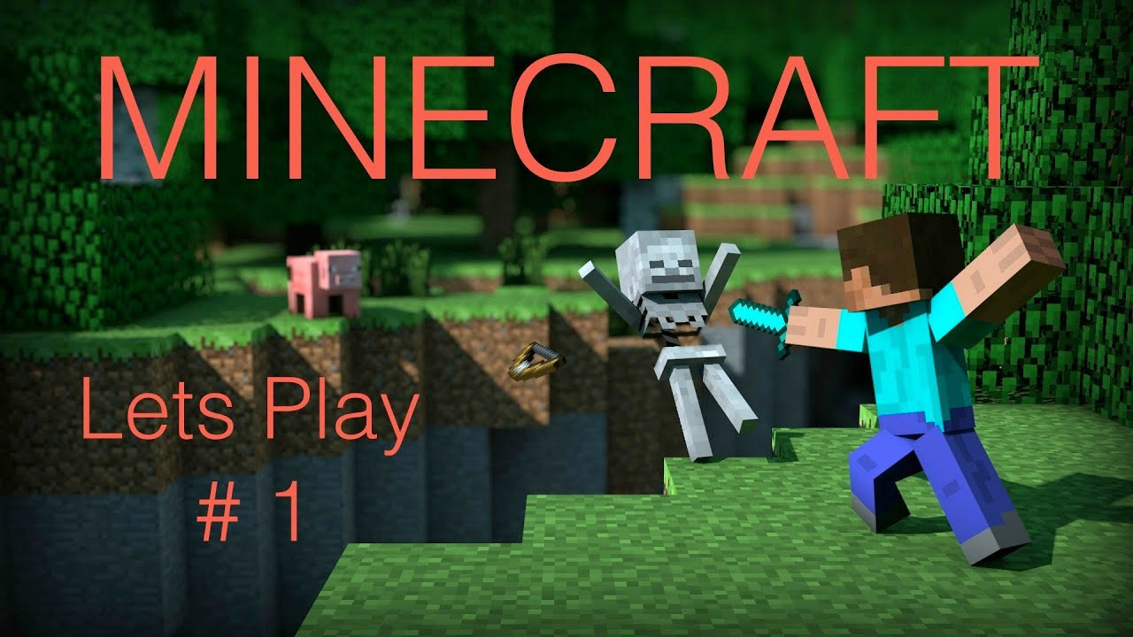 Minecraft Lets Play 1 Mob Attack Youtube