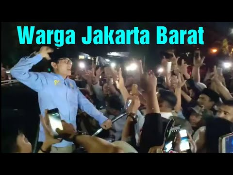 Sambutan Warga Jakarta Barat Saat Sandi Tiba