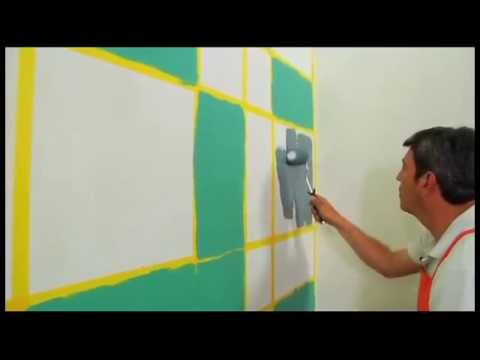 Pinta tu pared con un dise o original youtube - Paredes pintadas a cuadros ...