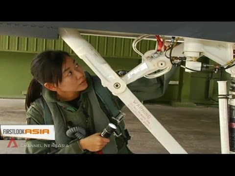 Singapore's first and only female F-15 fighter pilot Captain Nah Jin Ping
