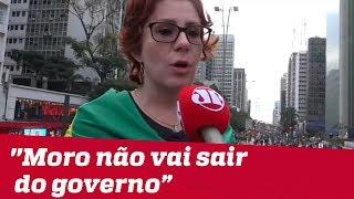 Deputada Carla Zambelli: 'Moro não vai sair do governo'