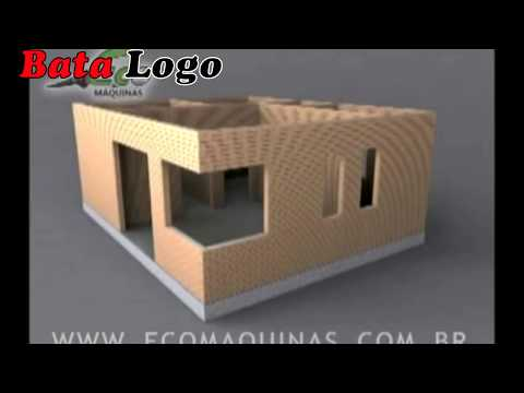 How to build house with clay interlocking lego brick, tijolo ecological with brick machine