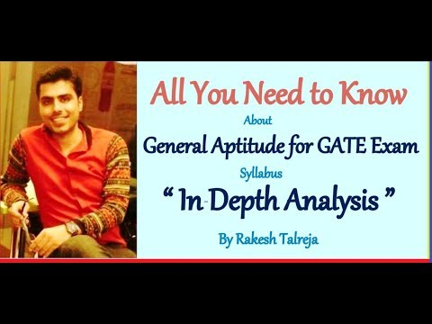 General Aptitude for GATE Exam |Syllabus-In-Depth-Analysis| All Branches