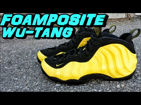 NIKE FOAMPOSITE ONE OPTIC YELLOW / WU-TANG REVIEW + ON FOOT