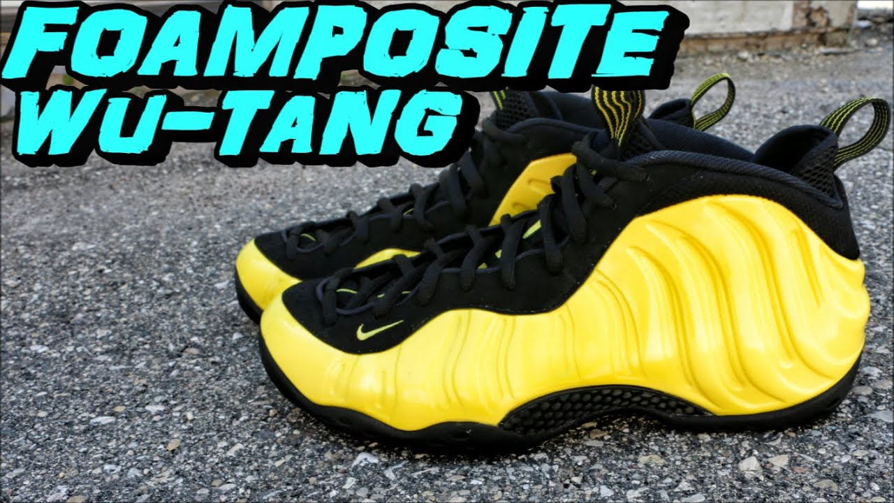 new styles 34549 fc56e NIKE FOAMPOSITE ONE OPTIC YELLOW / WU-TANG REVIEW + ON FOOT