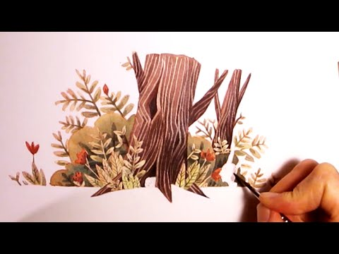 Nature Watercolor Illustration Testing And Experimenting