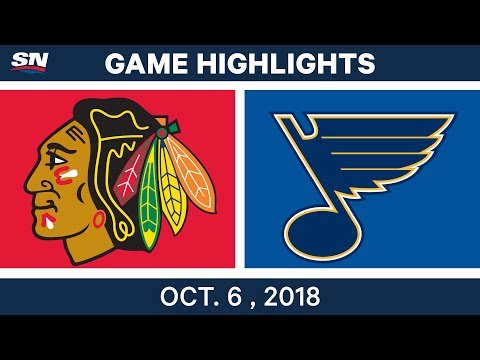 NHL Highlights | Blackhawks vs. Blues - Oct. 6, 2018