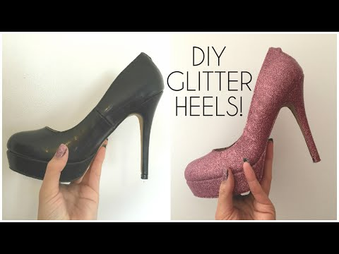 DIY Glitter Shoes/ Heels! | Prom, Party shoes ♡
