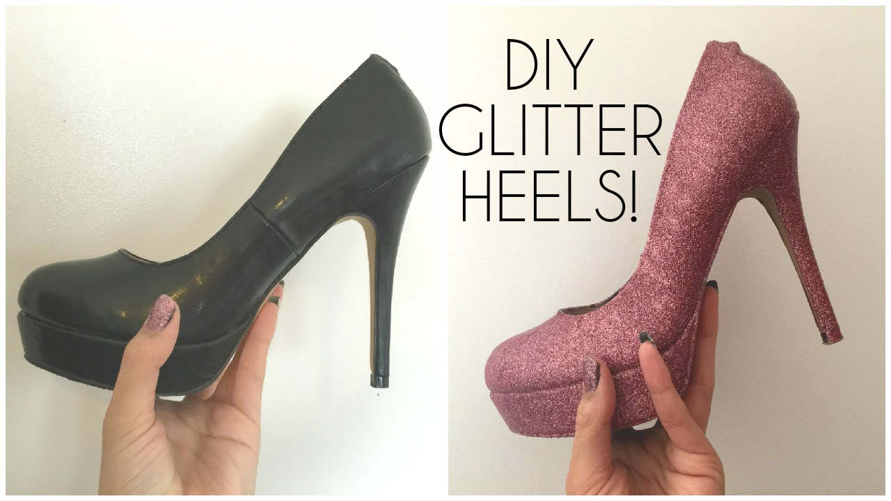 diy glitter shoes With so many fun fashion shoes on the runways for Spring, and in so many bright colors I knew what my closet needed was a serious dose of color. This DIY project is a fun and super easy way to bring an ordinary pair of pumps to the next level using only Mod Podge and glitter.