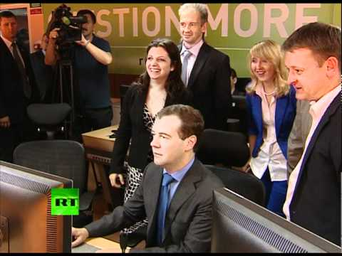 And Action! Dmitry Medvedev launches RT's new channel
