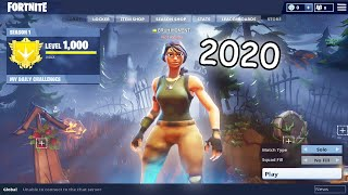 actually playing fortnite season 1 in 2020... (IN GAME)