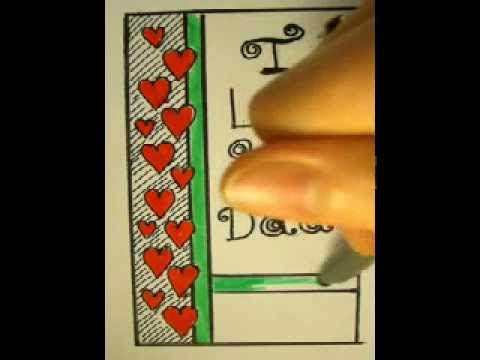 fathers day how to draw fathers day cards handmade youtube