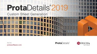 How to Create Custom Sheet Generation with ProtaDetails 2019