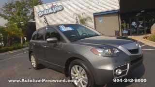 Autoline Preowned 2011 Acura RDX For Sale Used Walk Around Review Test Drive Jacksonville