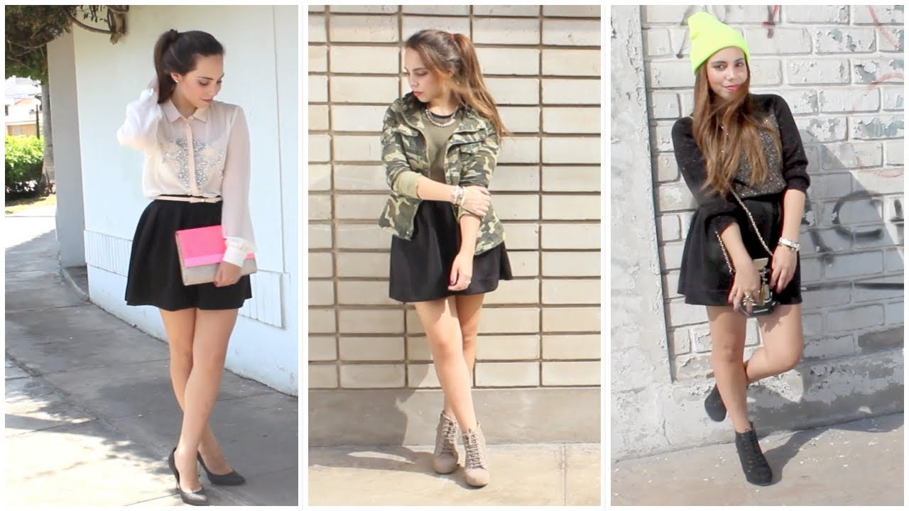 f05c8d8d6 Combina tu falda negra! - Outfits | What The Chic