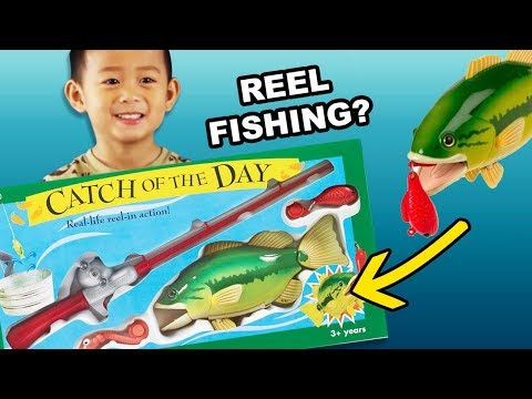 REEL FISHING! Catch Of The Day Toy With Bass Fish