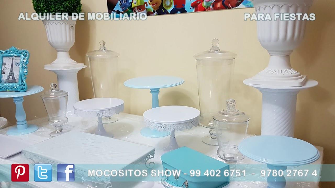 Alquiler de mobiliario mesas vintage para baby shower ni o for Mesa baby shower nino