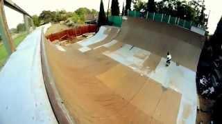 Ramp Vert Skateboarding - Private Backyard Vert Ramp