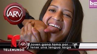 Conoce a la chica con la lengua más larga del mundo | Al Rojo Vivo | Telemundo
