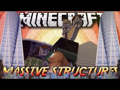 Minecraft ITA - Mod: STRUTTURE ISTANTANEE ENORMI - Grattacieli, Stadi, Montagne Russe, Piramidi