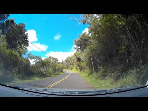 Driving Down 550 Waimea Canyon Drive From Kokee State Park -