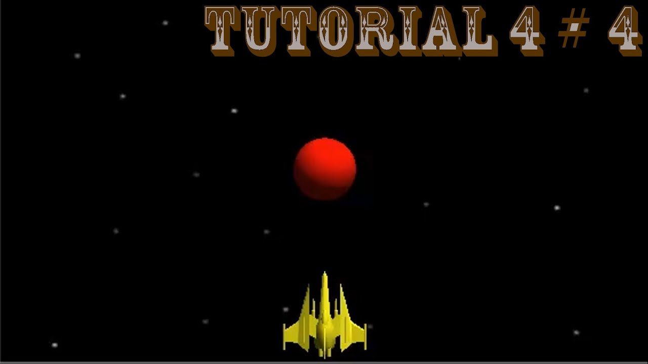 Space Shooter - Tutorial 4 # 4 [Deutsch][HD][TUM]: Scrolling Background and  Player Geometry