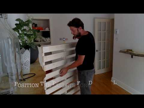 How to build a crate / pallet bed frame