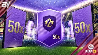 50 GOLD UPGRADE PACKS! HERO PACK OPENING! | FIFA 18 ULTIMATE TEAM