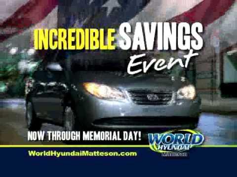 Matteson Auto Mall >> World Hyundai Matteson commercial | Matteson Auto Mall ...