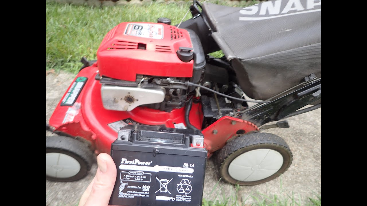 electric hand lawn mower. snapper big six ninja lawn mower nfrp216012e electric start - replacing the battery july 18, 2016 hand