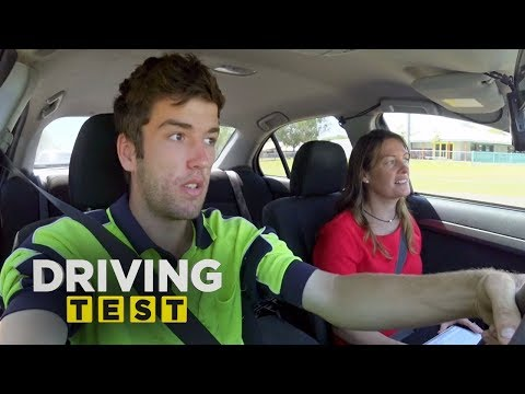 Tradie Struggles To Keep The Car On The Road | Driving Test Australia