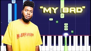 Khalid - My Bad Piano Tutorial EASY (Piano Cover) Video