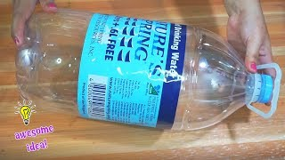 AWESOME AND EASY WAY TO RECYCLE PLASTIC BOTTLE IDEA| Best Reuse Idea