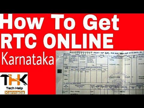 How to Get RTC online in Kannada -  ಆರ್.ಟಿ.ಸಿ. ಪಹಣಿ ಪತ್ರ