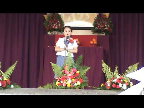 Kindergarten Graduation Speech By Angellei - Youtube